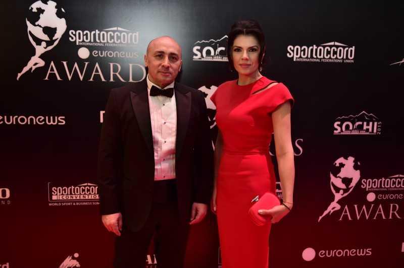 Marcel Pavel și Irina Nicolae au cântat la Gala SportAccord Euronews Awards de la Soci!