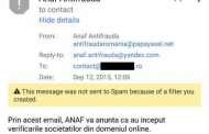 Avertisment asupra unei tentative de phishing