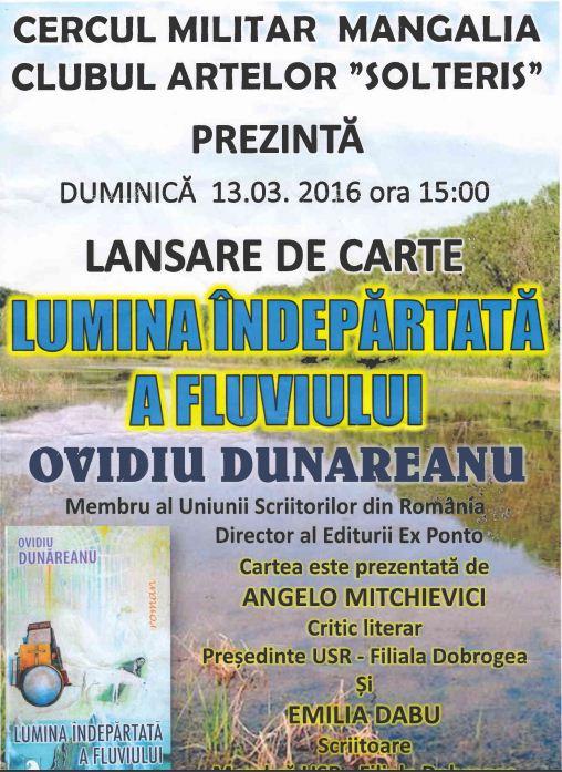 """""""LUMINA ÎNDEPĂRTATĂ A FLUVIULUI"""" LA CERCUL MILITAR MANGALIA"""