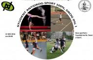 Student antidrog: sport 100%, drog 0%