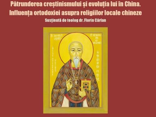 Teologul Florin Cârlan conferențiază despre ortodoxia din China