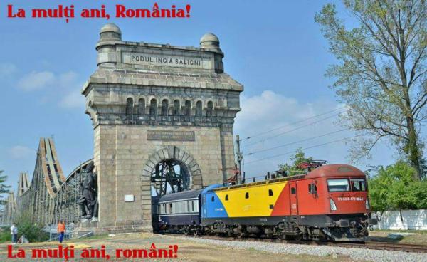 De Ziua Națională, cu trenul