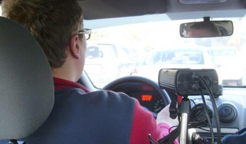 Proba practică a examenului de conducere este filmata