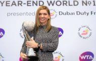 Simona Halep a primit trofeul pentru nimarul 1 mondial