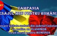 Flashmob: Mesajul elevilor constănțeni pentru România
