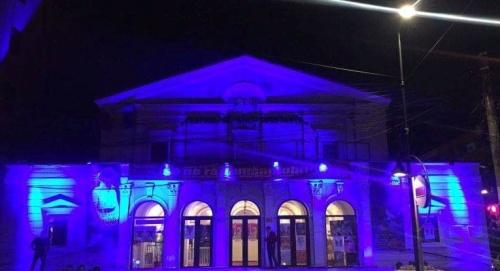 Teatrul de Stat Constanța, luminat in Albastru de Dobrogea