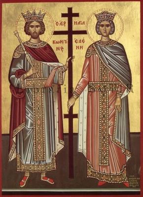 21 mai: Sfinții Mari Împărați și întocmai cu Apostolii Constantin și mama sa, Elena