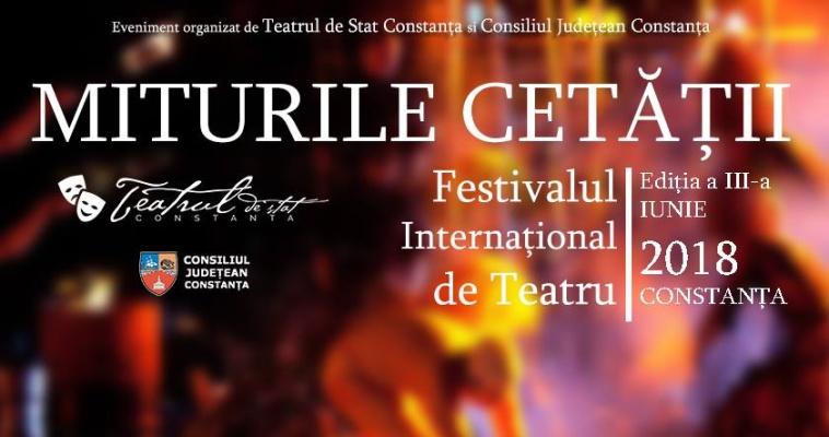 """Programul Festivalului """"Miturile Cetății"""" Constanța 2018"""