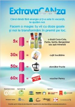 ExtravaCANza, o invitaţie la reciclarea dozelor din aluminiu pentru turiştii aflaţi pe litoral