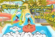 Spumă pe tobogane la Eforie Aqua Park