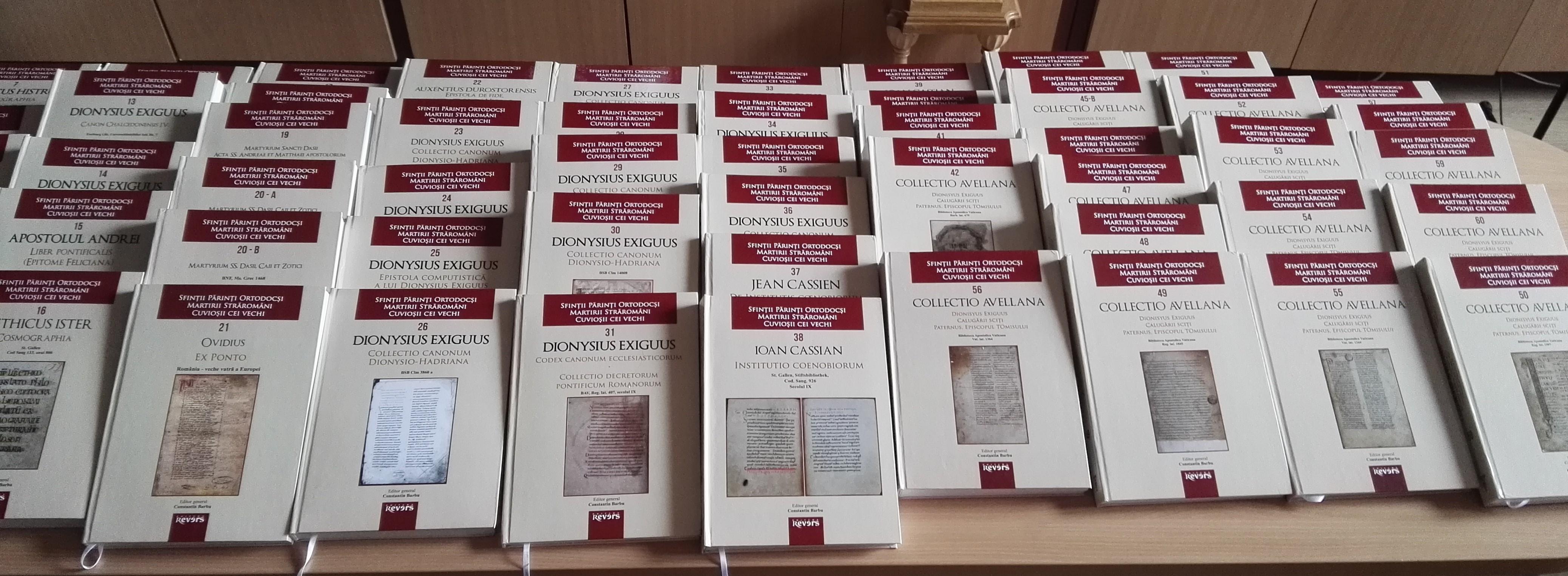 """Lansare colecție 100 volume, documente din mari arhive ale lumii - """"Sfinții Părinți Ortodocși. Martirii Străromâni. Cuvioșii cei vechi."""""""