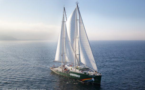 Nava Greenpeace, Rainbow Warrior, ajunge în Portul Constanța