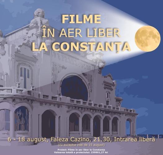 Filme în aer liber pe faleza Cazinoului