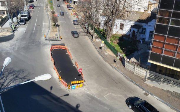 Sens giratoriu pentru fluidizarea circulației la intersecția bulevardului Mamaia cu strada I.G. Duca
