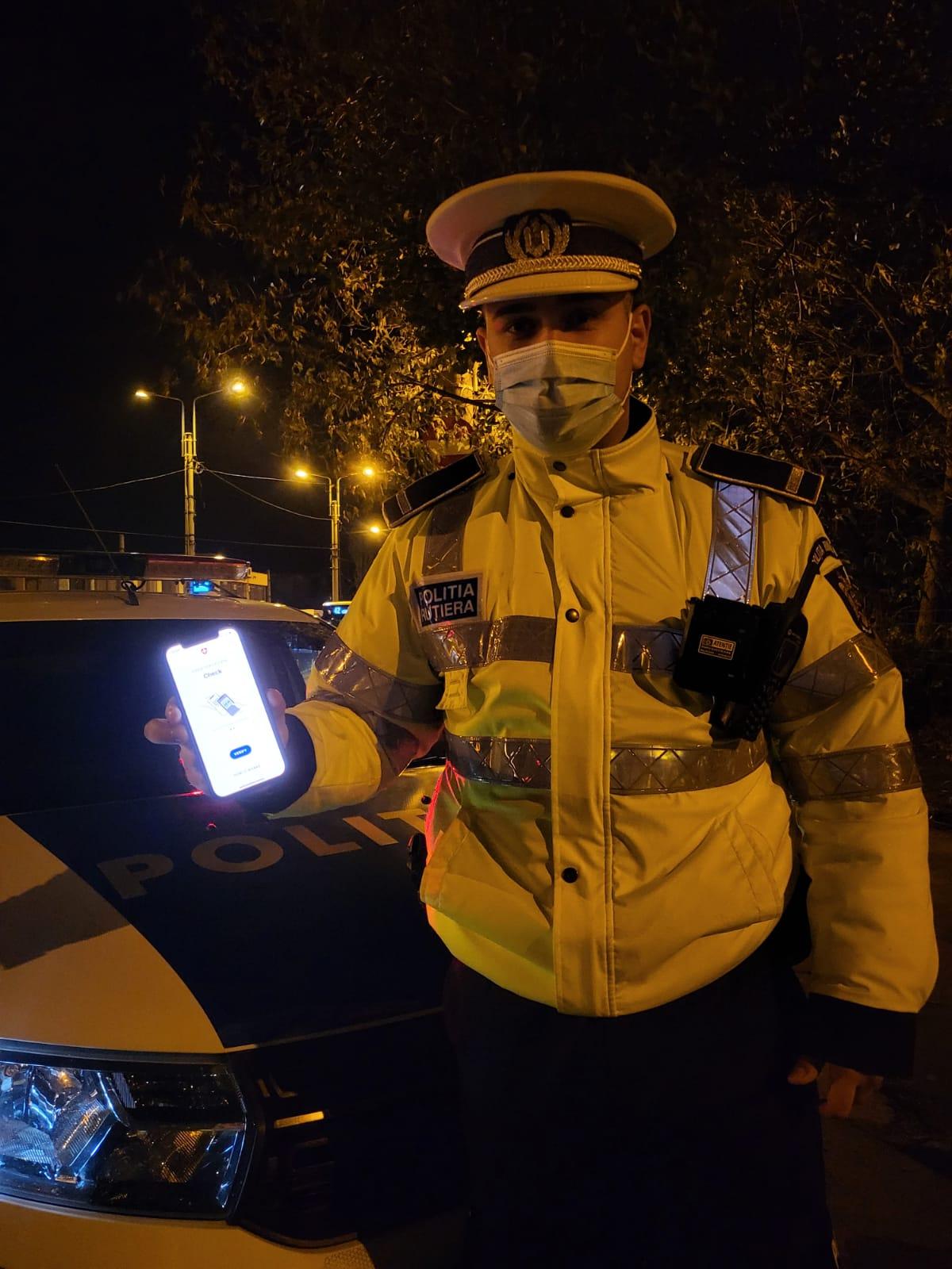 Poliția în acțiune! Certificatele verzi la control